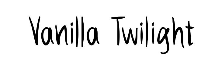 Vanilla Twilight  Free Fonts Download