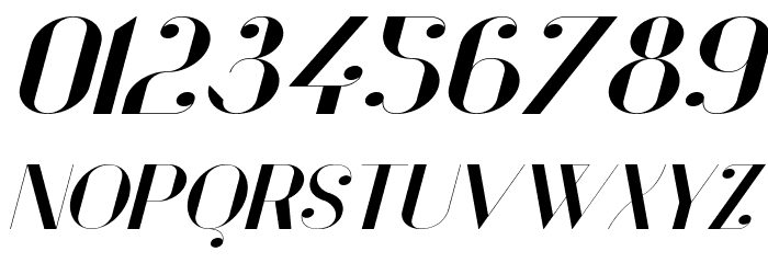 Vanity Bold Wide Italic Fuentes OTROS CHARS