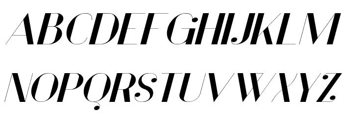 Vanity Bold Wide Italic Fuentes MAYÚSCULAS