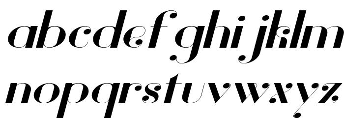 Vanity Bold Wide Italic Fuentes MINÚSCULAS