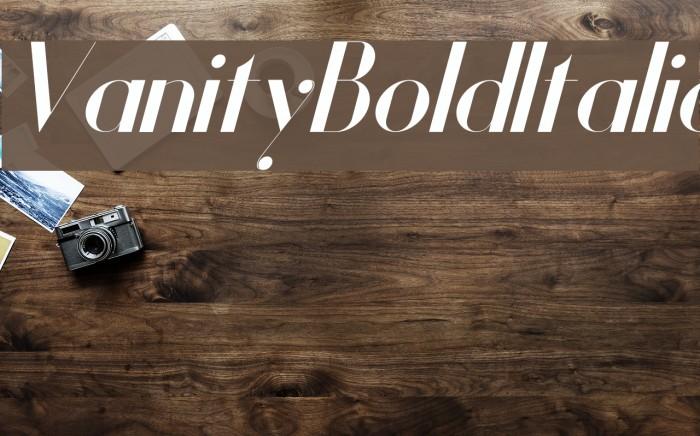 Vanity-BoldItalic Fuentes examples