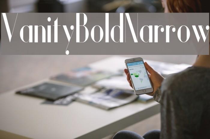 Vanity-BoldNarrow Fuentes examples