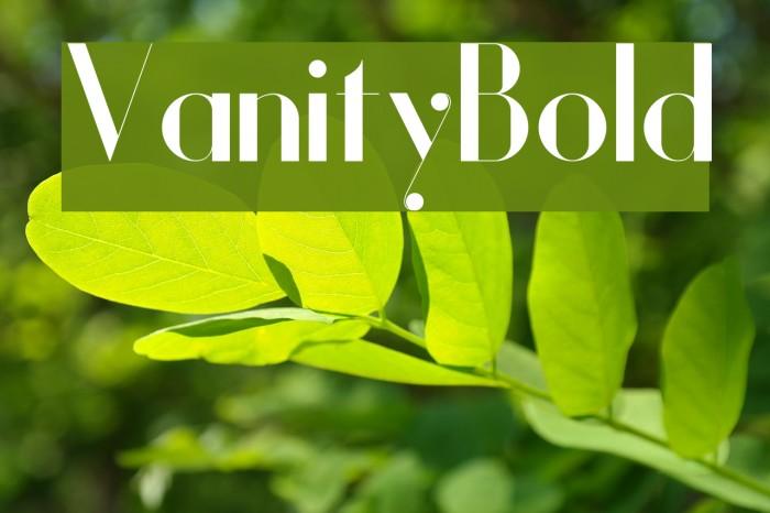 Vanity-Bold Fuentes examples