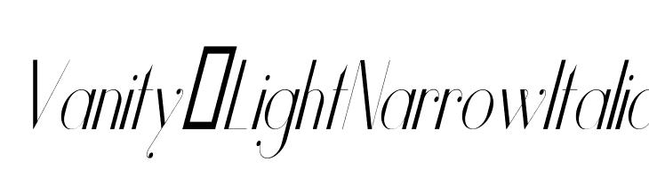 Vanity-LightNarrowItalic Font