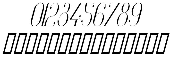 Vanity-LightNarrowItalic Font OTHER CHARS