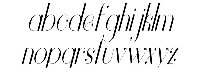 Vanity-LightNarrowItalic Font LOWERCASE