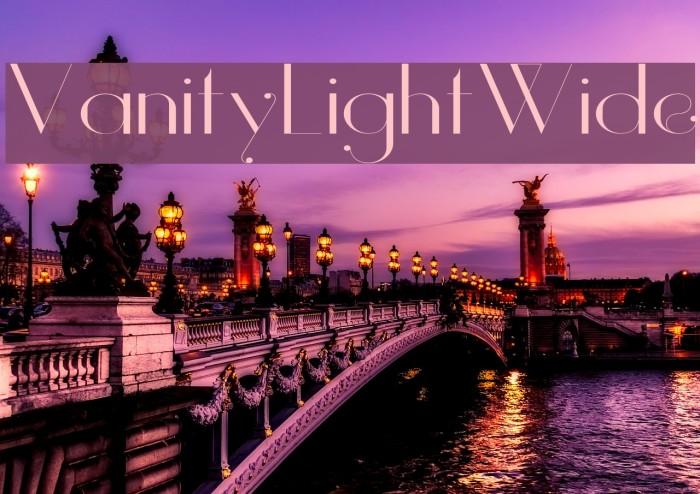 Vanity-LightWide Fuentes examples