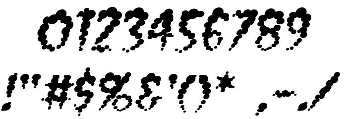 Vaporized BB Italic Font OTHER CHARS