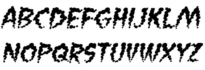 Vaporized BB Italic Font UPPERCASE