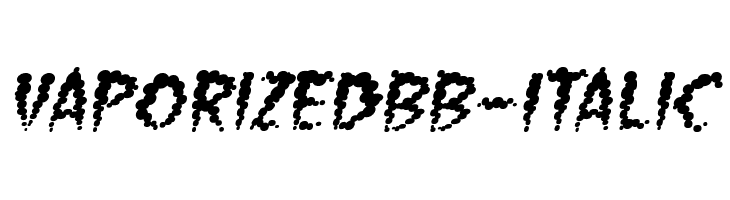 VaporizedBB-Italic  Free Fonts Download