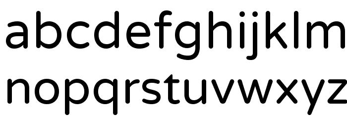 VarelaRound Шрифта строчной