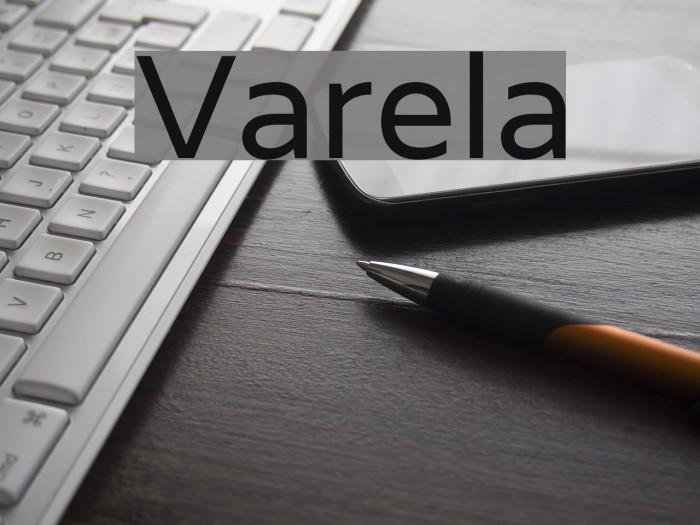 Varela Font examples