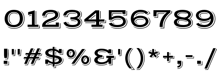 Vast Shadow Regular Font OTHER CHARS