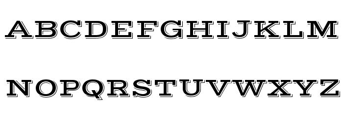 Vast Shadow Regular Font UPPERCASE