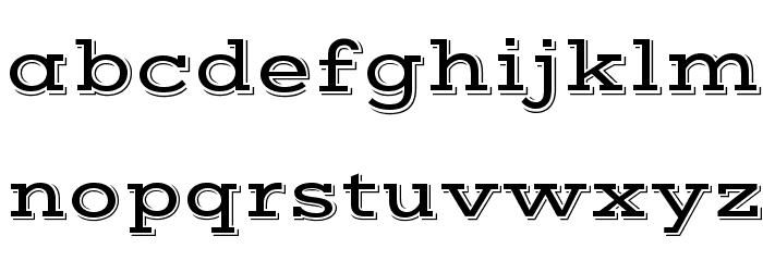 Vast Shadow Regular Font LOWERCASE