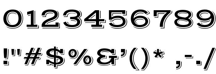 VastShadow-Regular Font OTHER CHARS