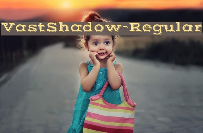 VastShadow-Regular Font examples