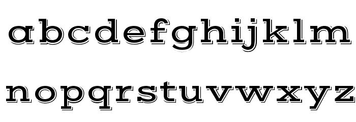 VastShadow-Regular Font LOWERCASE