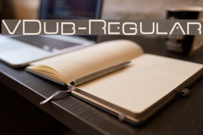 VDub-Regular फ़ॉन्ट examples