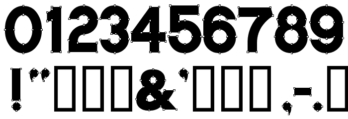 VectorBlack Font OTHER CHARS