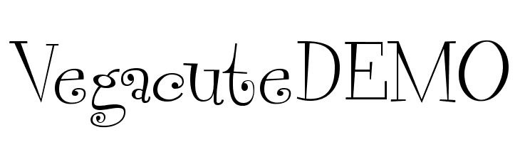 VegacuteDEMO  Frei Schriftart Herunterladen