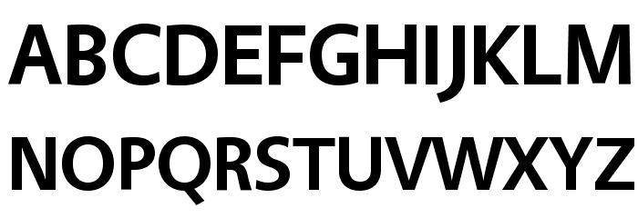Vegur Bold Font UPPERCASE