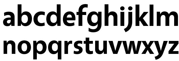 Vegur Bold Font LOWERCASE