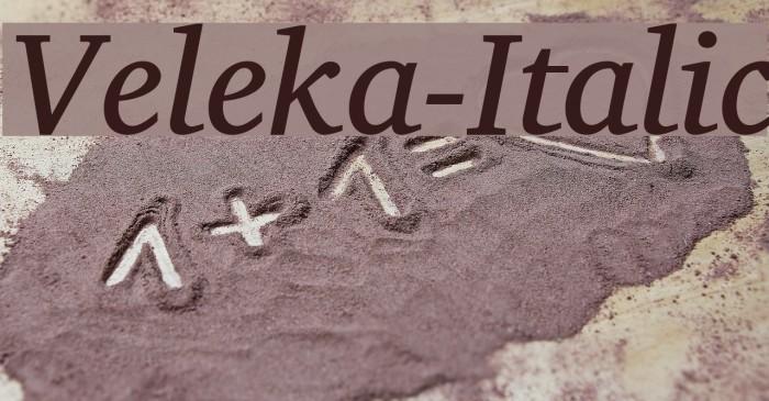 Veleka-Italic Fuentes examples