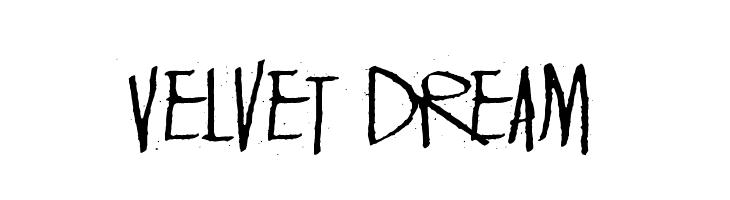 Velvet Dream  フリーフォントのダウンロード