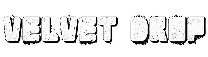 Velvet Drop  フリーフォントのダウンロード