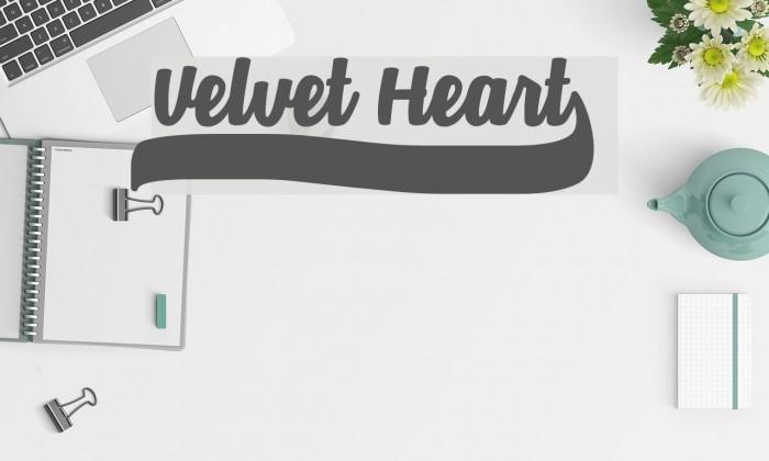 Velvet Heart* Font examples