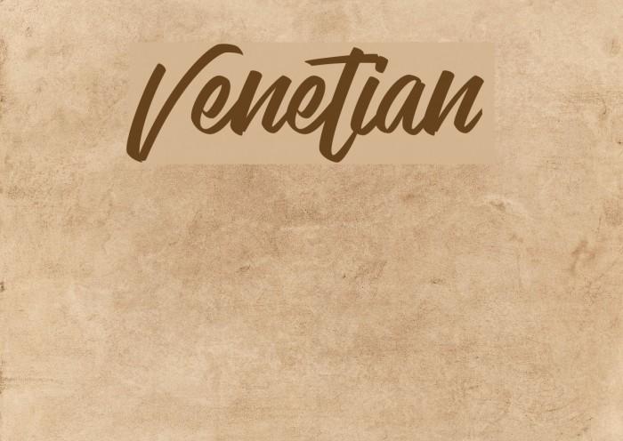 Venetian Schriftart examples