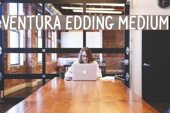 Ventura Edding Medium Font examples