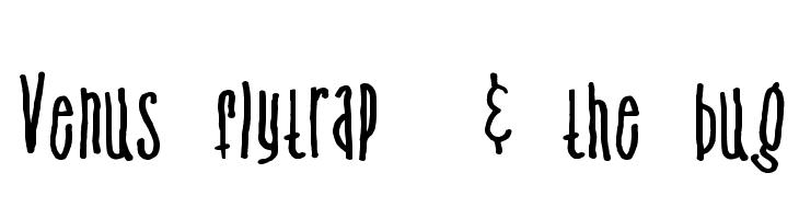 Venus flytrap  & the bug  Free Fonts Download