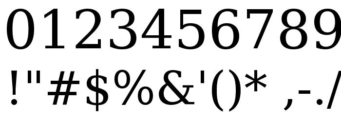Verajja Serif Font OTHER CHARS
