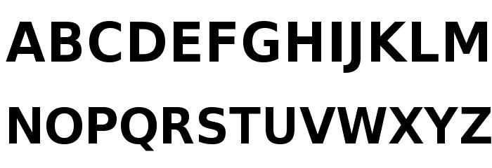 VeranaSansDemi-Regular Font UPPERCASE