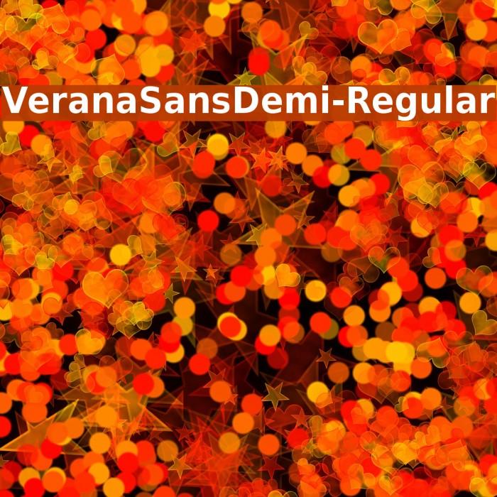 VeranaSansDemi-Regular Font examples