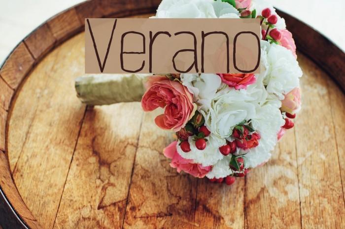 Verano Font examples