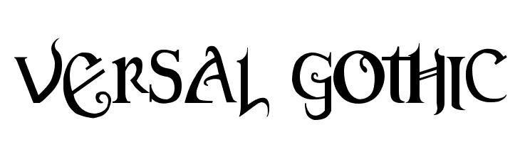 Versal Gothic  Fuentes Gratis Descargar