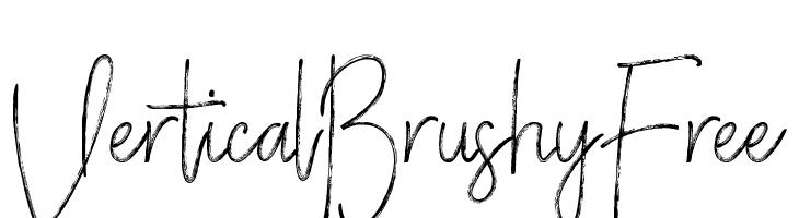 VerticalBrushyFree  Frei Schriftart Herunterladen