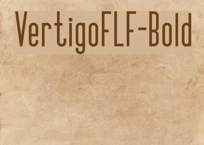 VertigoFLF-Bold Fonte examples