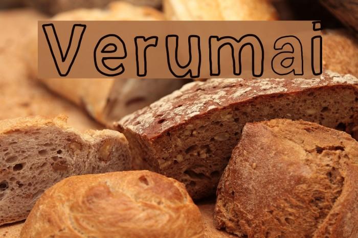 Verumai फ़ॉन्ट examples
