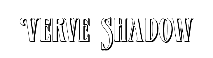 Verve Shadow  Free Fonts Download