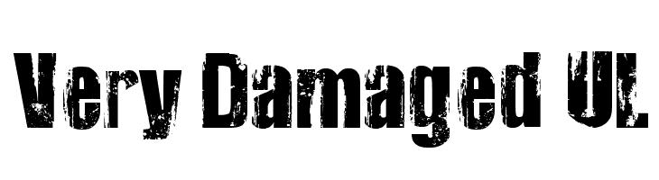 Very Damaged UL  नि: शुल्क फ़ॉन्ट्स डाउनलोड