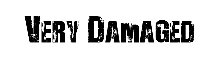Very Damaged Font - free fonts download