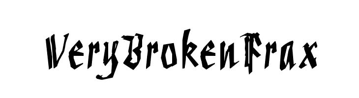 VeryBrokenFrax  Frei Schriftart Herunterladen