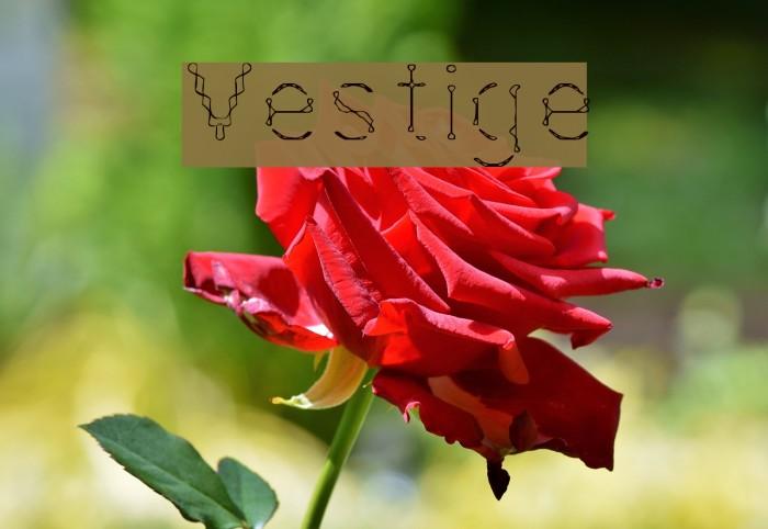 Vestige फ़ॉन्ट examples