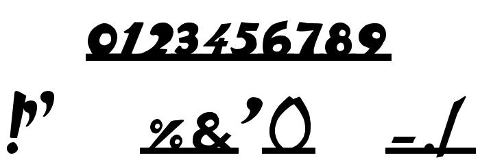 vespa Font OTHER CHARS