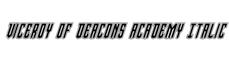 Viceroy of Deacons Academy Italic  Free Fonts Download