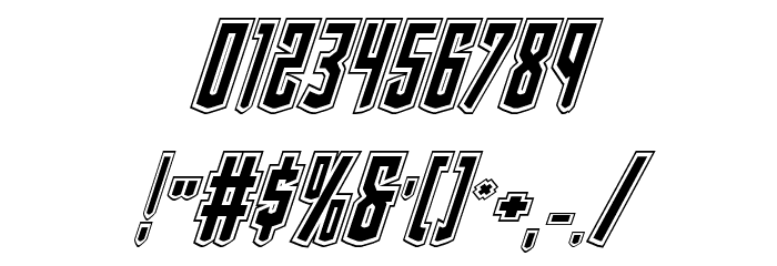 Viceroy of Deacons Academy Italic Font OTHER CHARS